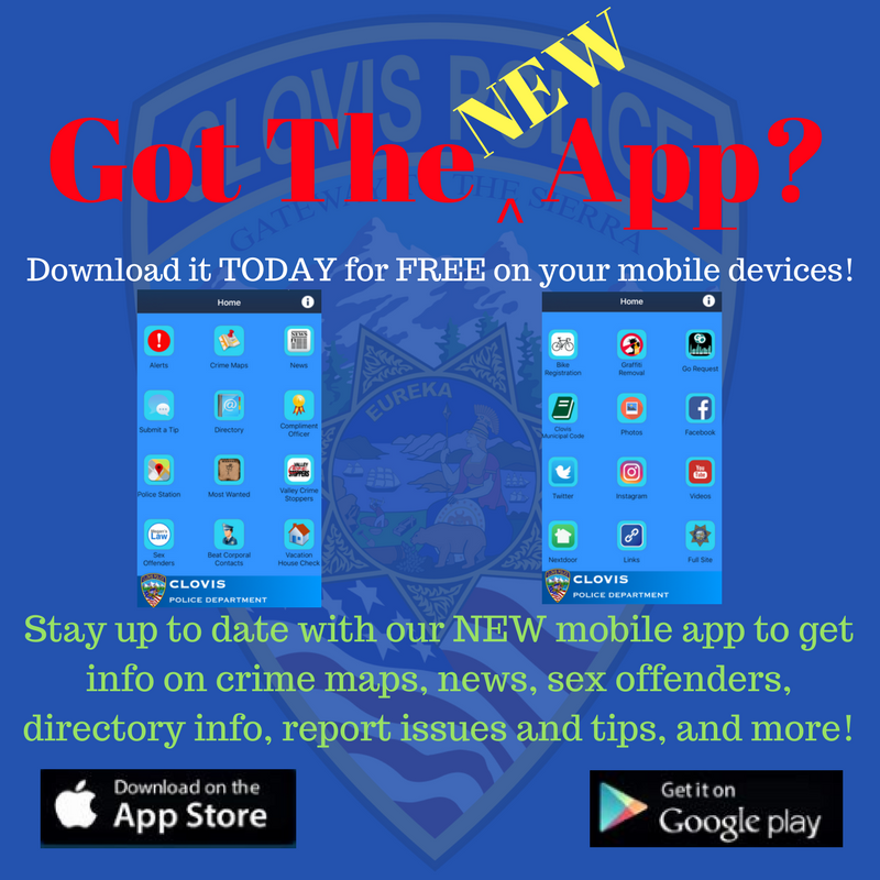 An image of that shows the Clovis PD App