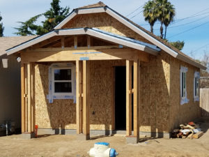 An image of a house being built