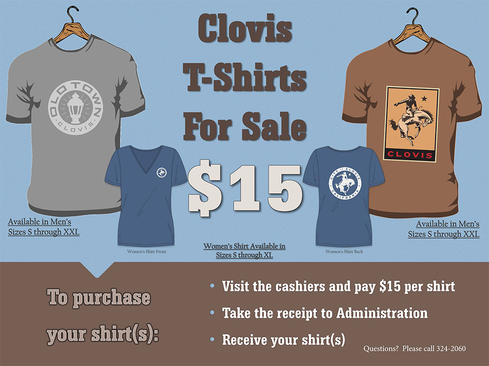 An image that's selling Clovis shirts for $15