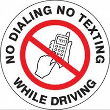 A logo for No Dialing and Texting While Driving