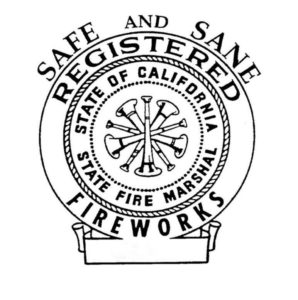 Image of State Fire Marshal registered Safe and Sane logo