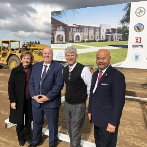 Members of Clovis City Council join Fresno Housing Authority at Groundbreaking of New Project
