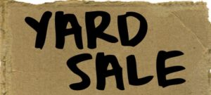Citywide Yard Sale – moved to May 2 & 3, 2020