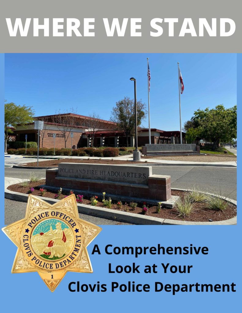 Picture of Clovis PD building and Page, with text saying Where We Stand