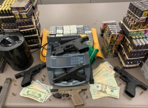 Photo of Close up of recovered stolen property and evidence