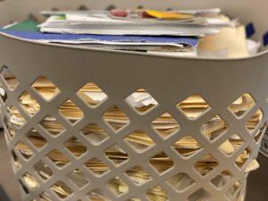 Basket full of stolen mail