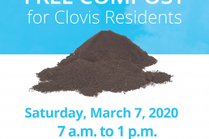 Free Compost for Clovis Residents - Saturday, March 7th, 2020, 7 AM to 1 PM