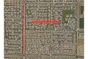 Temperance Avenue Construction Map